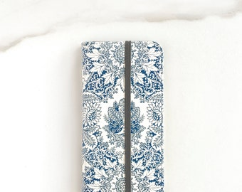 Boho Wallet Case, iPhone 6S Plus Case With Card Holder, Indigo Blue, iPhone 7 Wallet, iPhone 7 Plus Cover