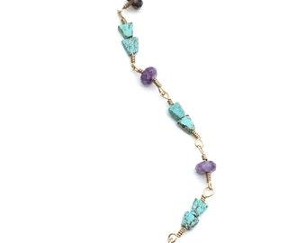 Glass and Howlite Bracelet