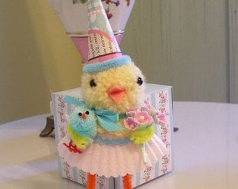 Darling Little Easter/Spring Chick....Vintage look....So Sweet