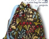 Kitty Garden - Petit Project Bag for Knitting, Crochet, or Cross Stitch
