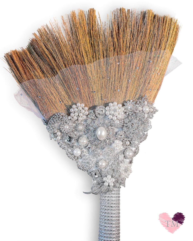 wedding broom wedding brooms Bling Dreams Wedding Broom Brooch Wedding Broom Bling Jumping Broom Bling Wedding Broom Jeweled Wedding Broom Wedding