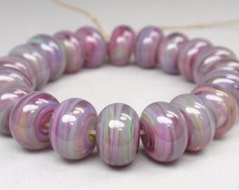Song Bird Swirls  - 20 Handmade Lampwork Beads SW 214