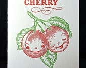 Mon Cherry Valentine romantic card