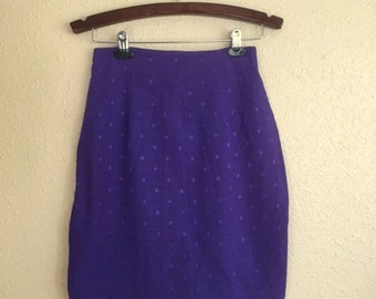 Vintage PURPLE DIAMOND Skirt / Womens SMALL