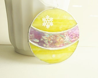 SALE Stained Glass Christmas Ornament