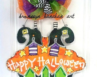 Halloween Cupcake Door Hanger - Bronwyn Hanahan Original