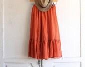 vintage 70s gauze peasant skirt midi