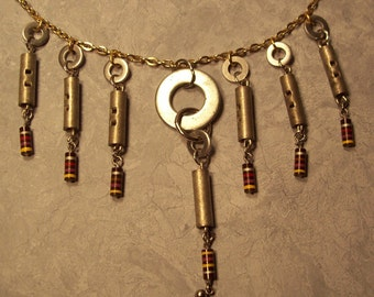 NECKLACE...Made from recycled / re-purposed material.