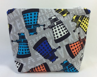 POUCH- Doctor Who; Daleks **handmade**