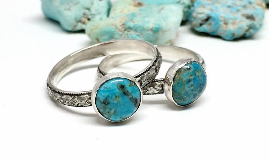 arizona turquoise ring blue gemstone ring sterling silver