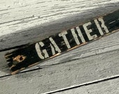 Gather Rustic Wood Sign, Inspirational Reclaimed Wood, Farmhouse Decor, Salvaged Wood Holiday Decoration, Handpainted Hand lettered