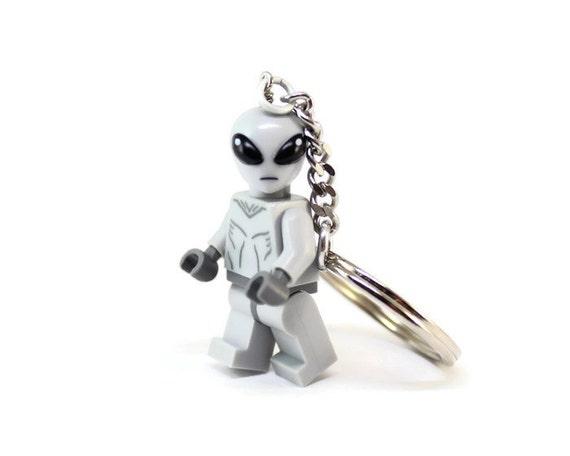 Alien Key Chain - made from Series 6 LEGO® Alien Minifigure