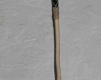 Handmade hickory staff