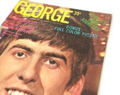 Vintage 1964 Beatles George Harrison Teen Screen Magazine - Teen Screen Life Story - Volume 1, Issue 3, 66 pages - Beatles Magazine Souvenir