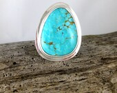 Reserved for Tammy Kingman Turquoise Sterling Silver Ring
