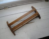 Vintage Church Pew Book Holder Oak