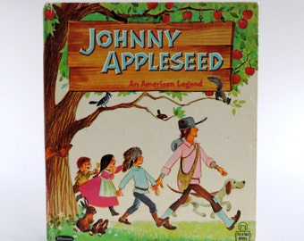 Vintage Johnny Appleseed An American Legend Children's Book, 1967 Tell-a-Tales 2508, Whitman Publishing, Solveig Paulson Russell & Elfreda