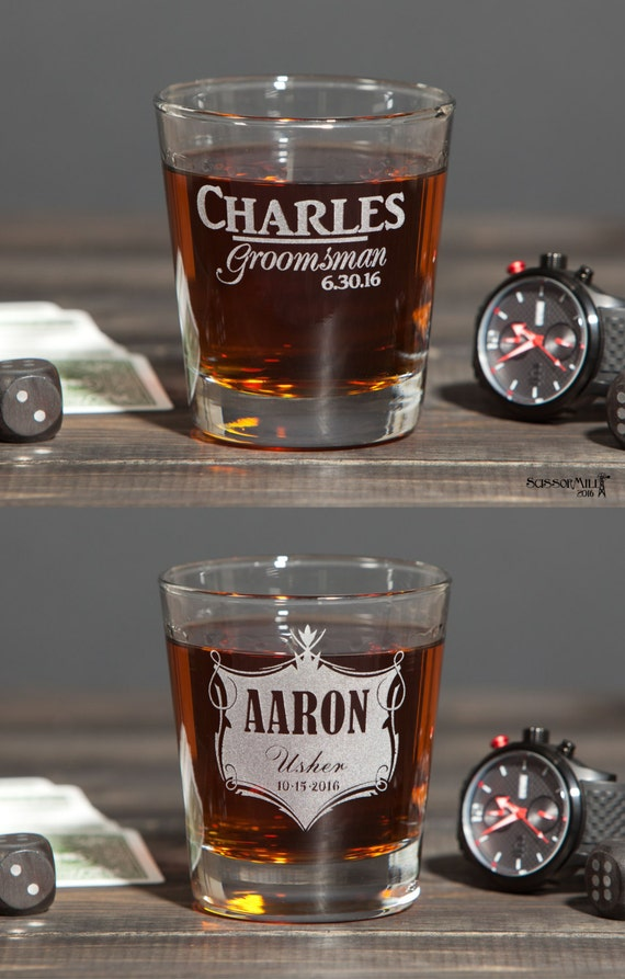 Groomsmen Gift Glasses, Groomsmen Gift, Best Man Gift, Whiskey Gift, Personalized Wedding Toasting Glasses, Father of the Bride, Usher Gift