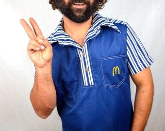 Rare Vintage 1976 Original McDonalds Uniform Shirt