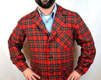 Vintage Pendleton Western Wool Plaid Button Up Shirt Jacket