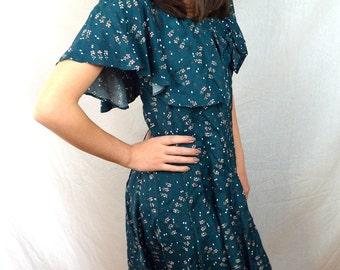 Vintage 80s 90s Rampage Floral Garden Summer Mini Dress
