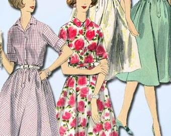 1960s Vintage Vogue Sewing Pattern 9972 Uncut Misses Shirtwaist Dress Size 12