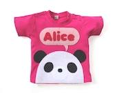 Organic Baby Panda T-Shirt, New Baby Gift, Baby Girl