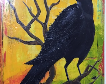 Crow Art Painting Painting