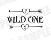 SVG DXF Commercial/Personal Use Wild One Southern Valentine Silhouette Cameo