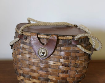 vintage basket purse