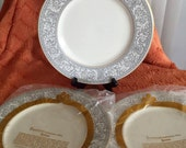 Set of three Franciscan Renaissance Gray Dinner Plates in Original Wrappers