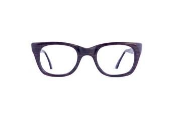 50s Eyeglasses Frames Unisex Vintage 1950's Dark Wood Grain Detail #M447 DIVINE