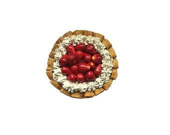 Fake Very Strawberry Pie - 9 Inch Fake Pie - Realistic Pie Table Prop - Scented or Unscented