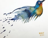 Day 30 - Signed Print - Abstract Bird - Daily Watercolor - One of 366 days of watercolor paintings and/or ink drawings