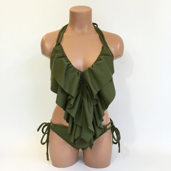 Long ruffle swimsuit MORE COLORS
