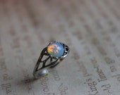 White Fire Opal Ring, True Vintage Fire Opal Ring, Opal Ring, Birthday Gift Ideas, Promise Ring, Handmade Gifts, Gift for Her, Trendy Gifts