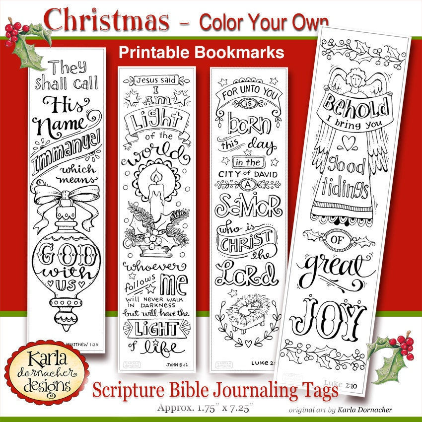 Versatile image within printable christmas bookmarks