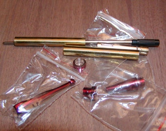 Fancy Slimline 7mm Pen Turning Kit Red Colored Components New In Package