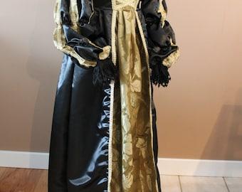 "Bust 33"" Borgias Lucrezia Italian Dress Ever After Renaissance Medieval Gown"