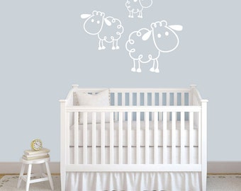 Set of Sheep - Nursery and Kid's Room Animal Wall Decals