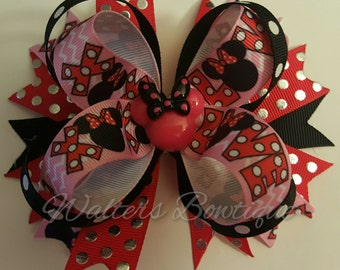Minnie Mouse hairbow 5""