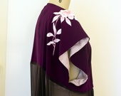 Lolita Silk Kimono / Amethyst One of a kind reconstructed kimono / loungewear - Valentine's Gift