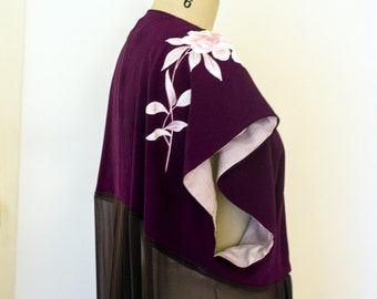 Lolita Silk Kimono / Amethyst One of a kind reconstructed kimono / loungewear - Valentine's Gift
