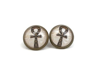 Ankh Earrings, Ancient Egyptian Symbol, Gifts for Ancient Egyptian History Lovers, Gift for Anthropologist, Archaeology Presents, Gift ideas