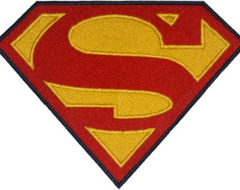 Superman inspired embroidery icon patch for your DIY needs, applique, original artwork