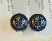 Midnight Blue Skull Macabre Plugs Gauges  9/16, 5/8ths, 3/4ths   t279
