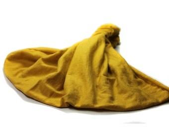 Fashion Headscarf Mustard Yellow Running Headscarf Big Head Head Scarf Cute Head Wrap Exercise Head Wrap Yoga Head Cover (#2858) S M L X