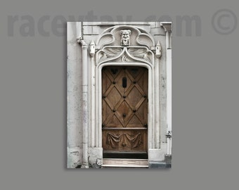 Paris Photography, Door Print, Gray, Brown, Paris Decor, Neutral, Gothic, Architecture, Old Door Photo