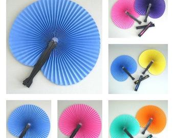 Tropical Party Fan Favors Set of 6 Colorful Paper Fan Decor Hand Fan Decoration Folding Fan Supplies Party Supplies Party Favor Party Decor