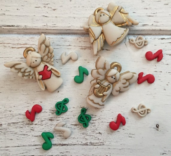 """Angel Buttons, Packaged Novelty Button Assortment """"A Choir of Angels"""" by Dress It Up Jesse James Buttons and Embellishments"""